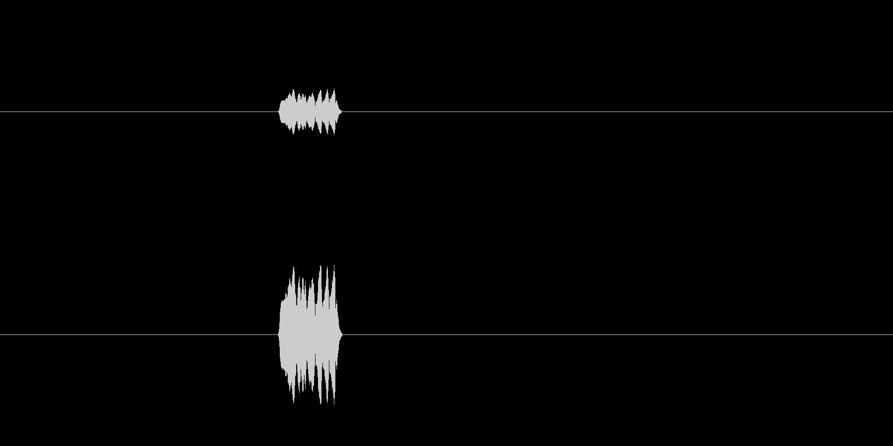 ビッ(ホイッスルの音)の未再生の波形