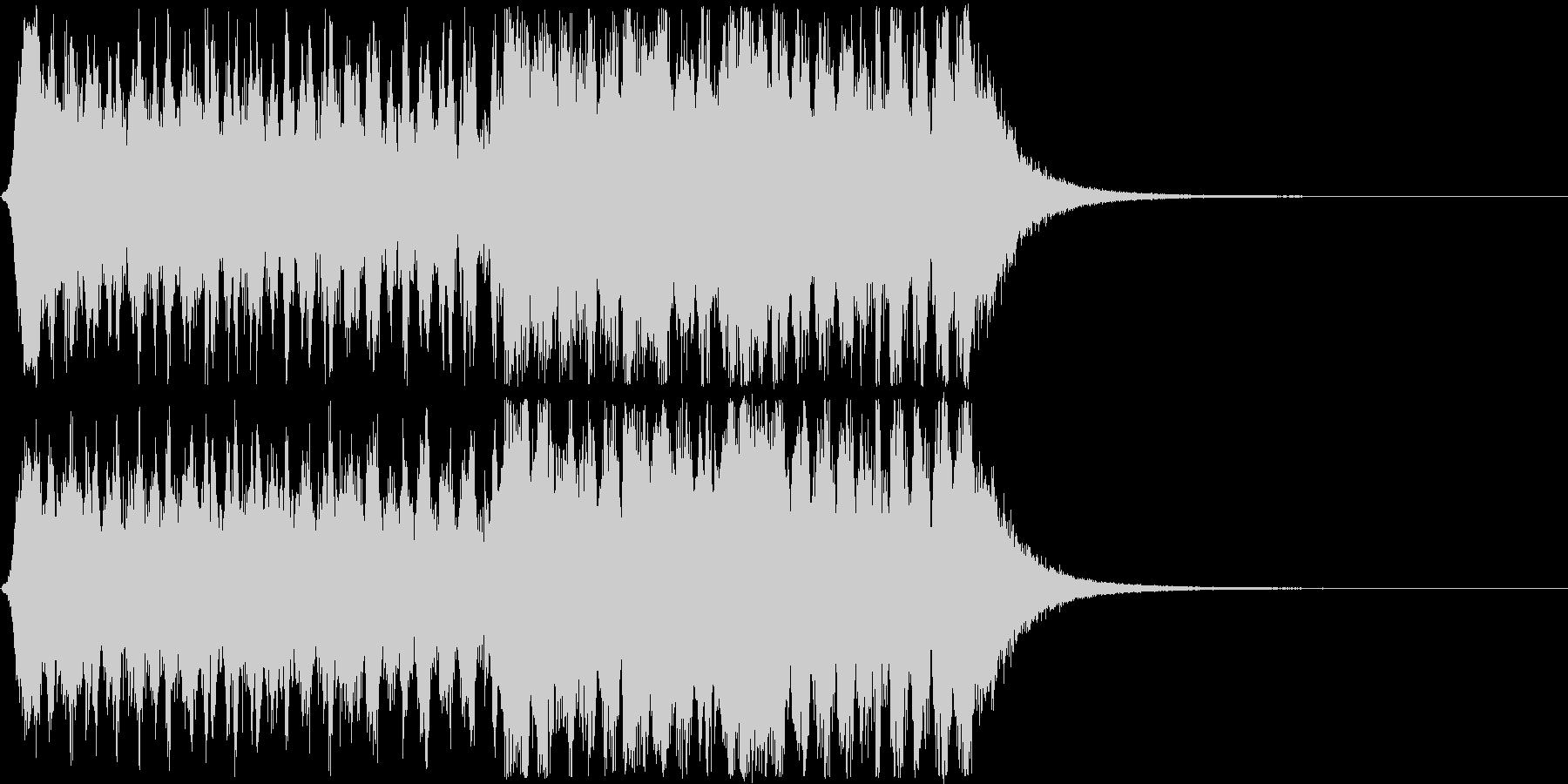 オーケストラ風の登場曲、オープニング曲の未再生の波形
