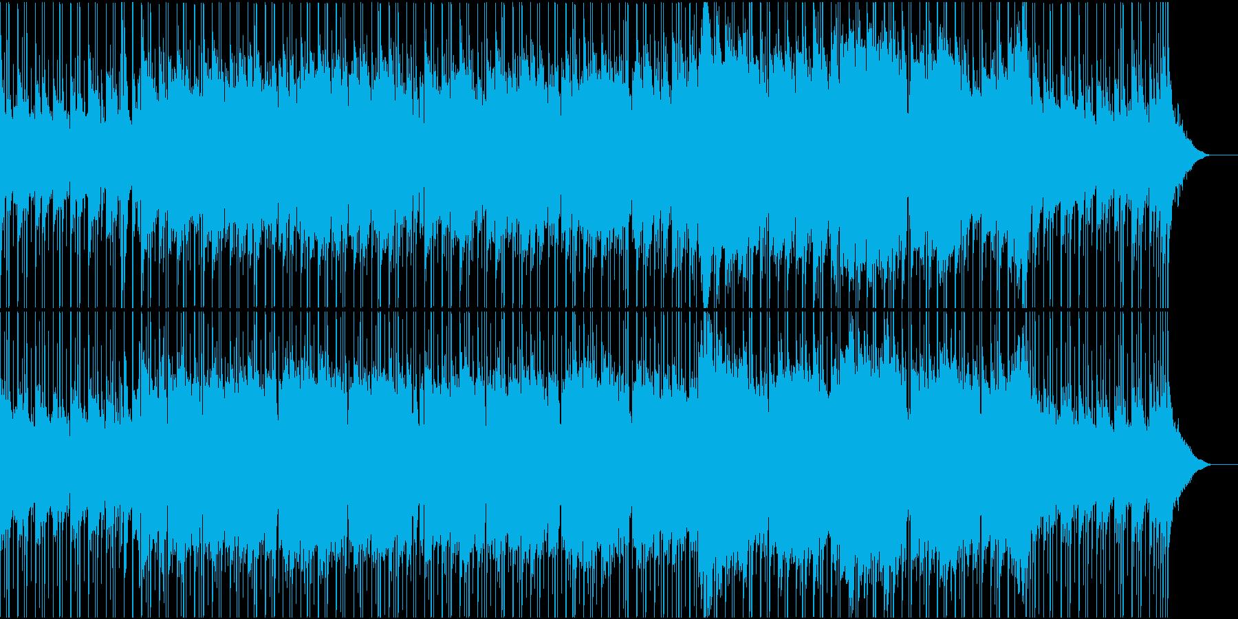 のどかな風景広がるほのぼのとしたBGMの再生済みの波形