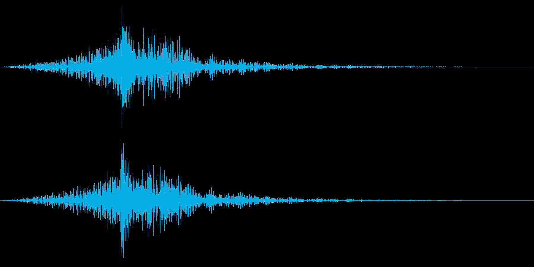 ホラー系アタック音101の再生済みの波形