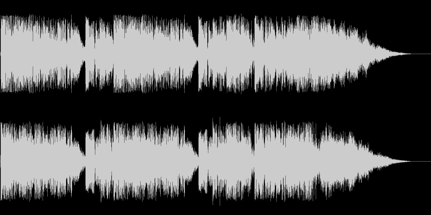 にぎやかなオープニングの効果音の未再生の波形