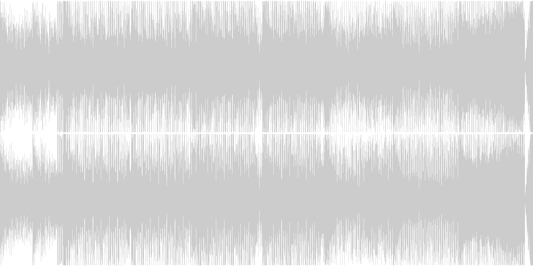 EDM ピアノ スポーツ バラエティLPの未再生の波形