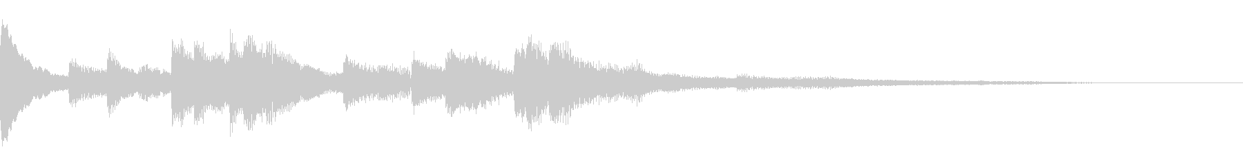 きれいなソロピアノジングルの未再生の波形