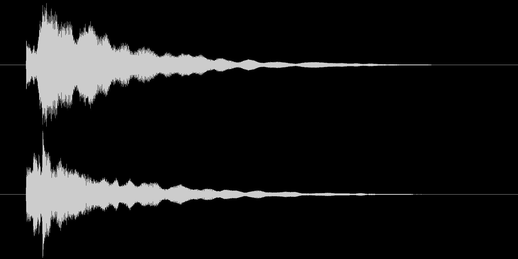 手掛かり発見時にピッタリのジングルの未再生の波形