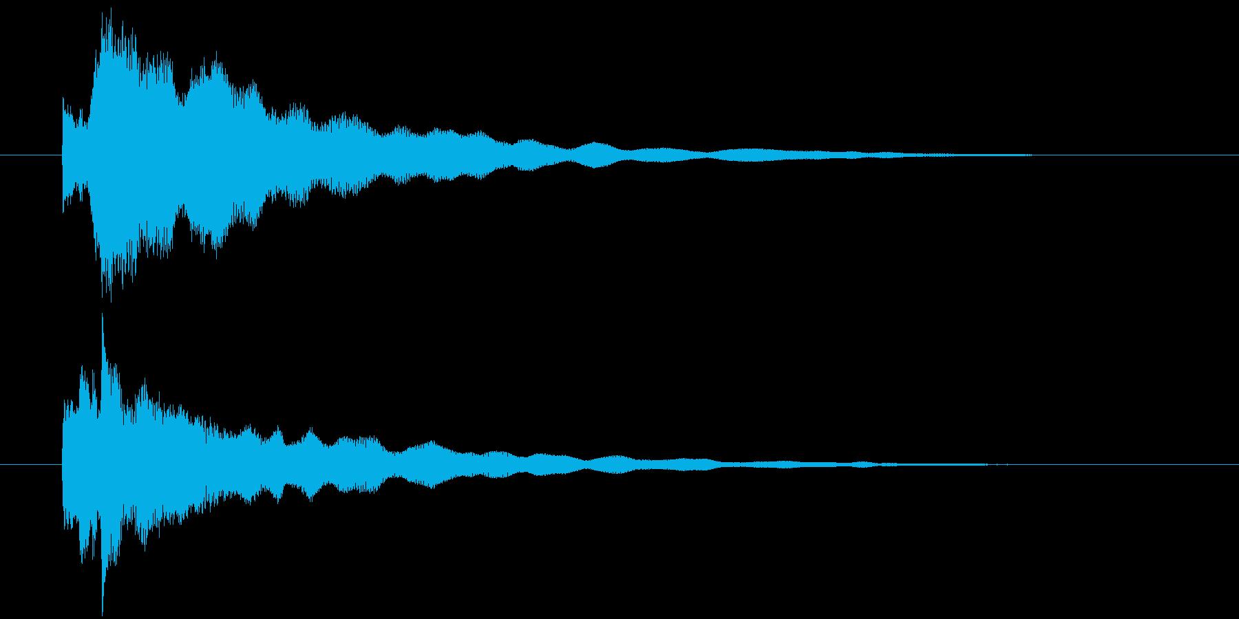 手掛かり発見時にピッタリのジングルの再生済みの波形