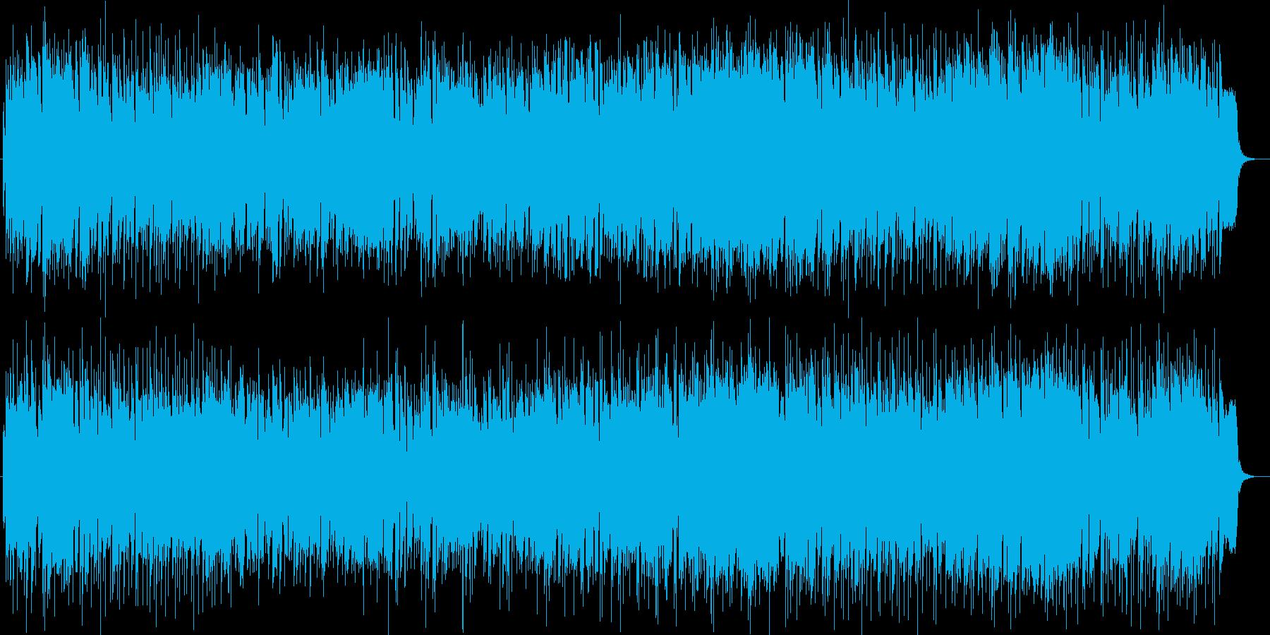 ゆったりリゾート感のあるシンセサウンドの再生済みの波形
