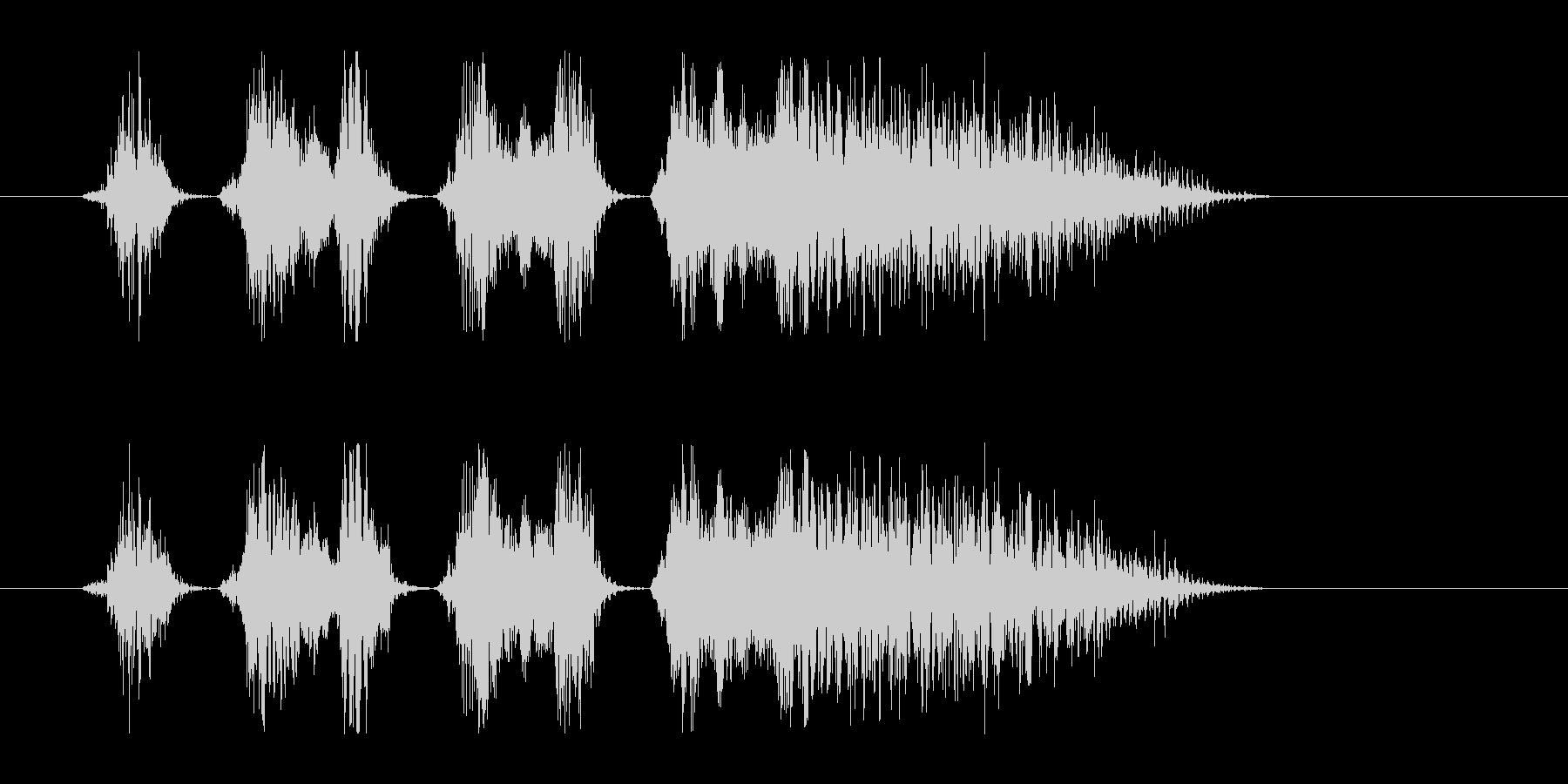 和風掛け声_コンビネーション2_Dryの未再生の波形