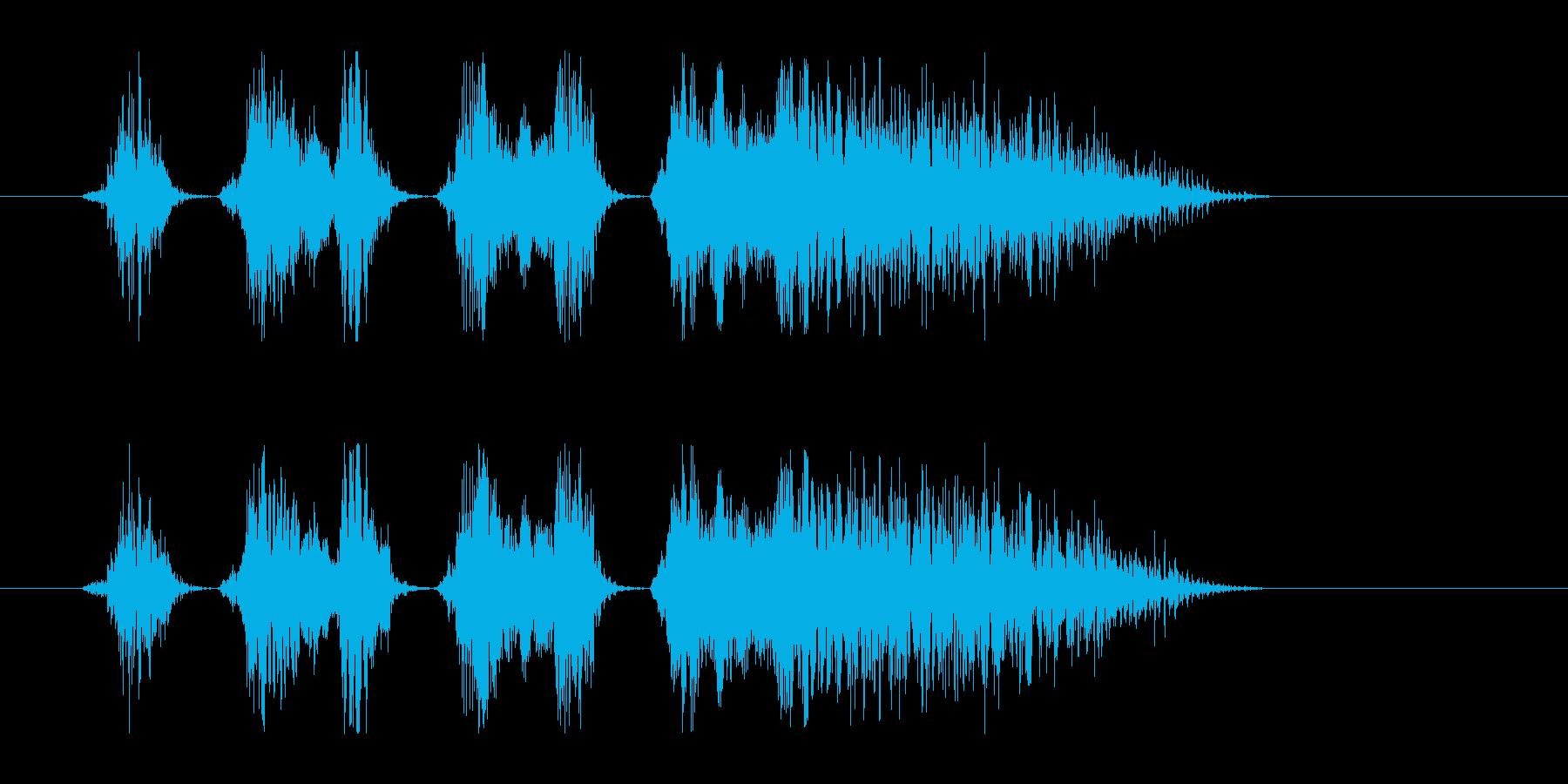 和風掛け声_コンビネーション2_Dryの再生済みの波形