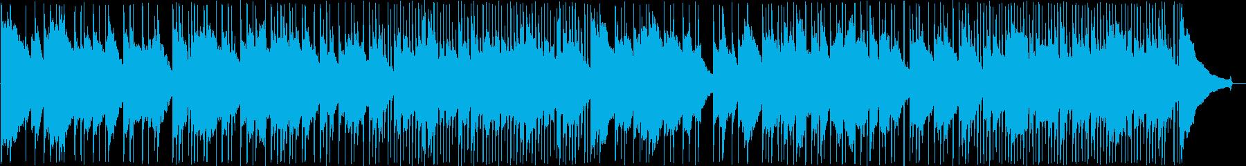 緩やかなボサノバ調のアコースティック曲の再生済みの波形
