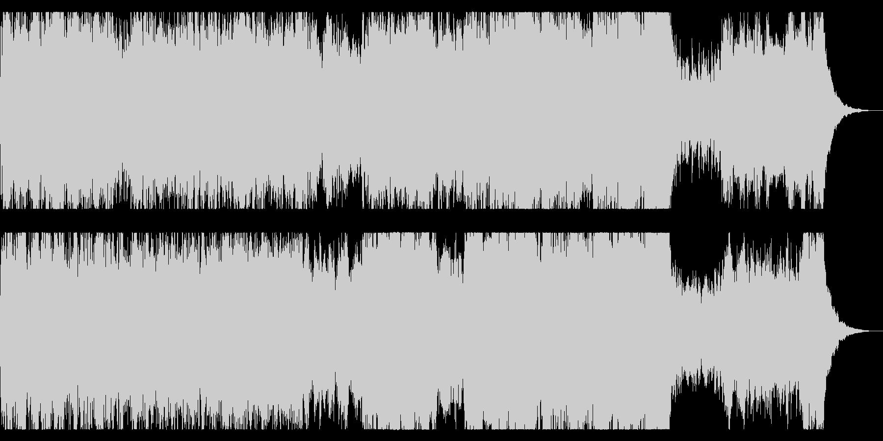 ファンタジックなオープニングBGMの未再生の波形
