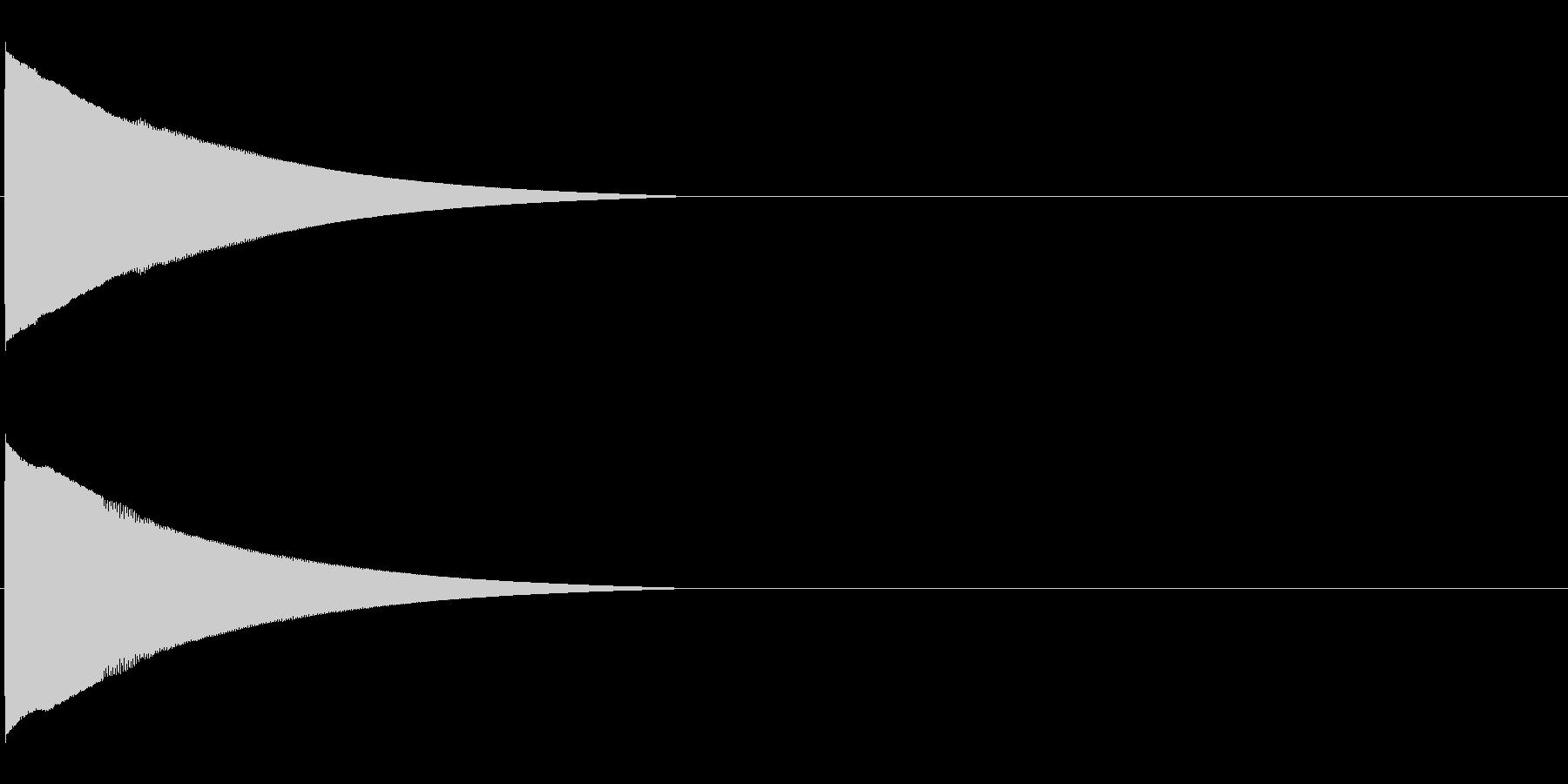 ピコーンといった効果音 高いファの未再生の波形