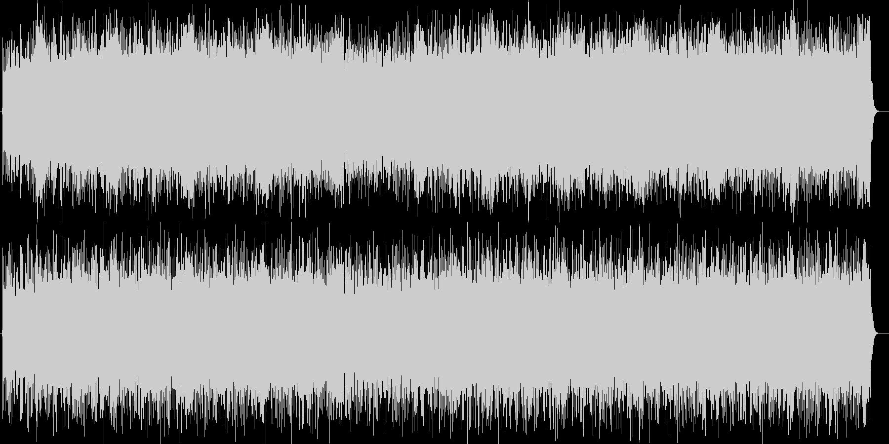 スピードと迫力のシンセサイザーサウンドの未再生の波形