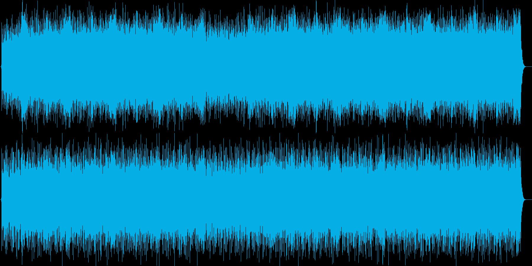 スピードと迫力のシンセサイザーサウンドの再生済みの波形