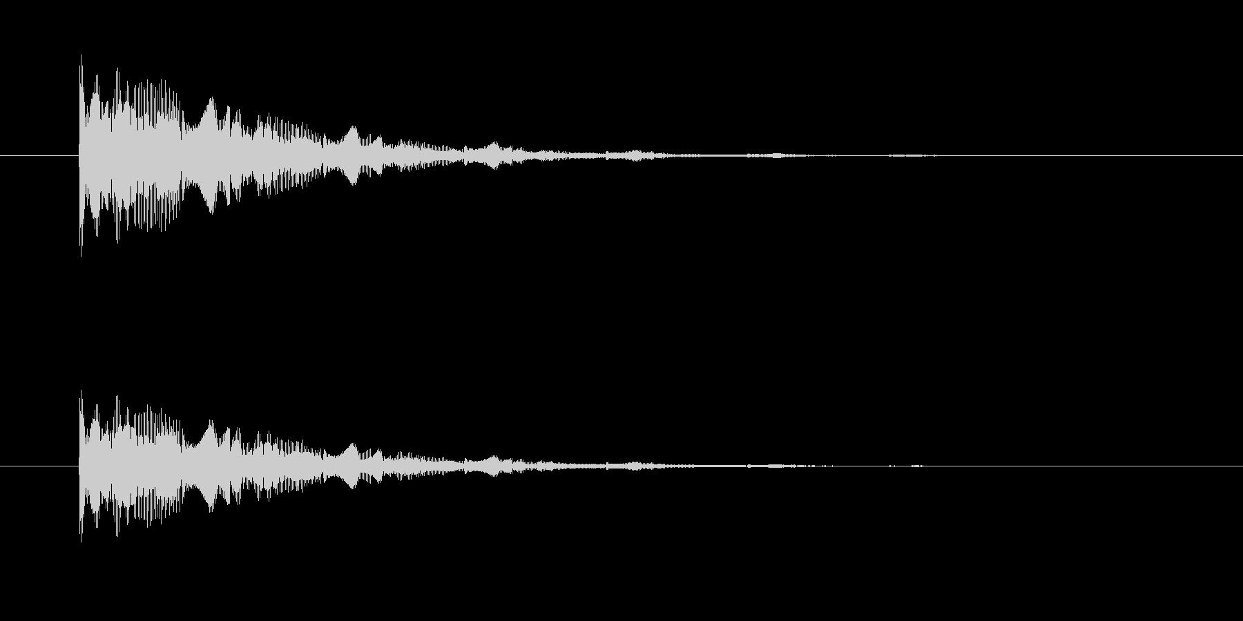 レトロなアナログシンセ音の未再生の波形