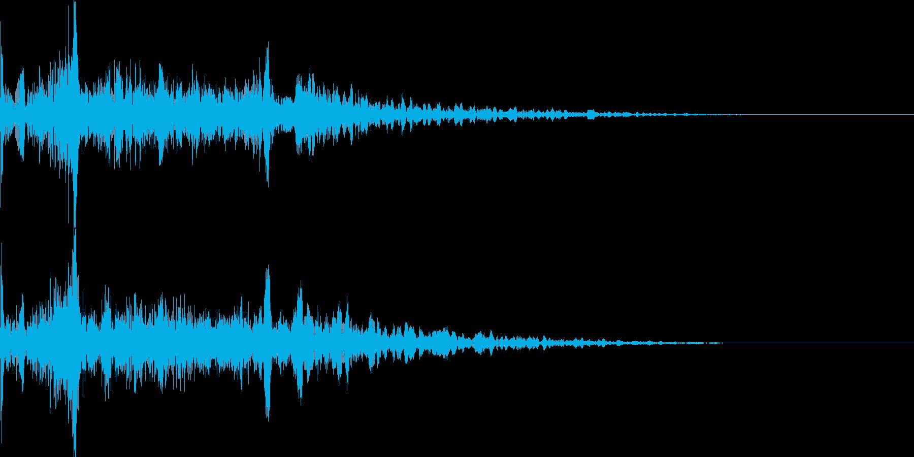 衝撃音03の再生済みの波形