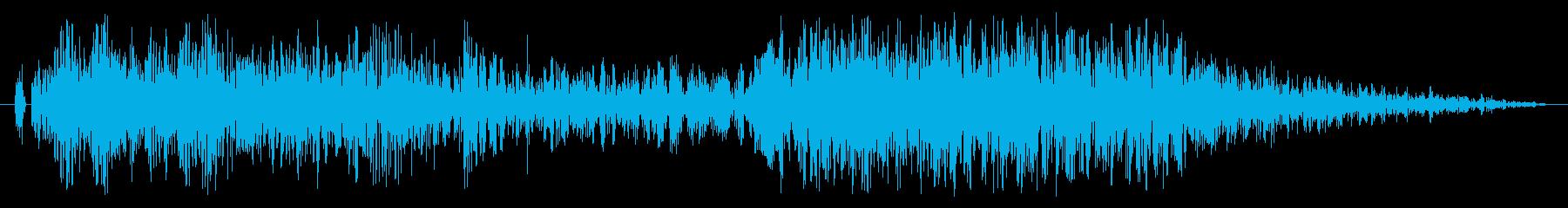 【レース】ド迫力の車アクセル効果音!02の再生済みの波形