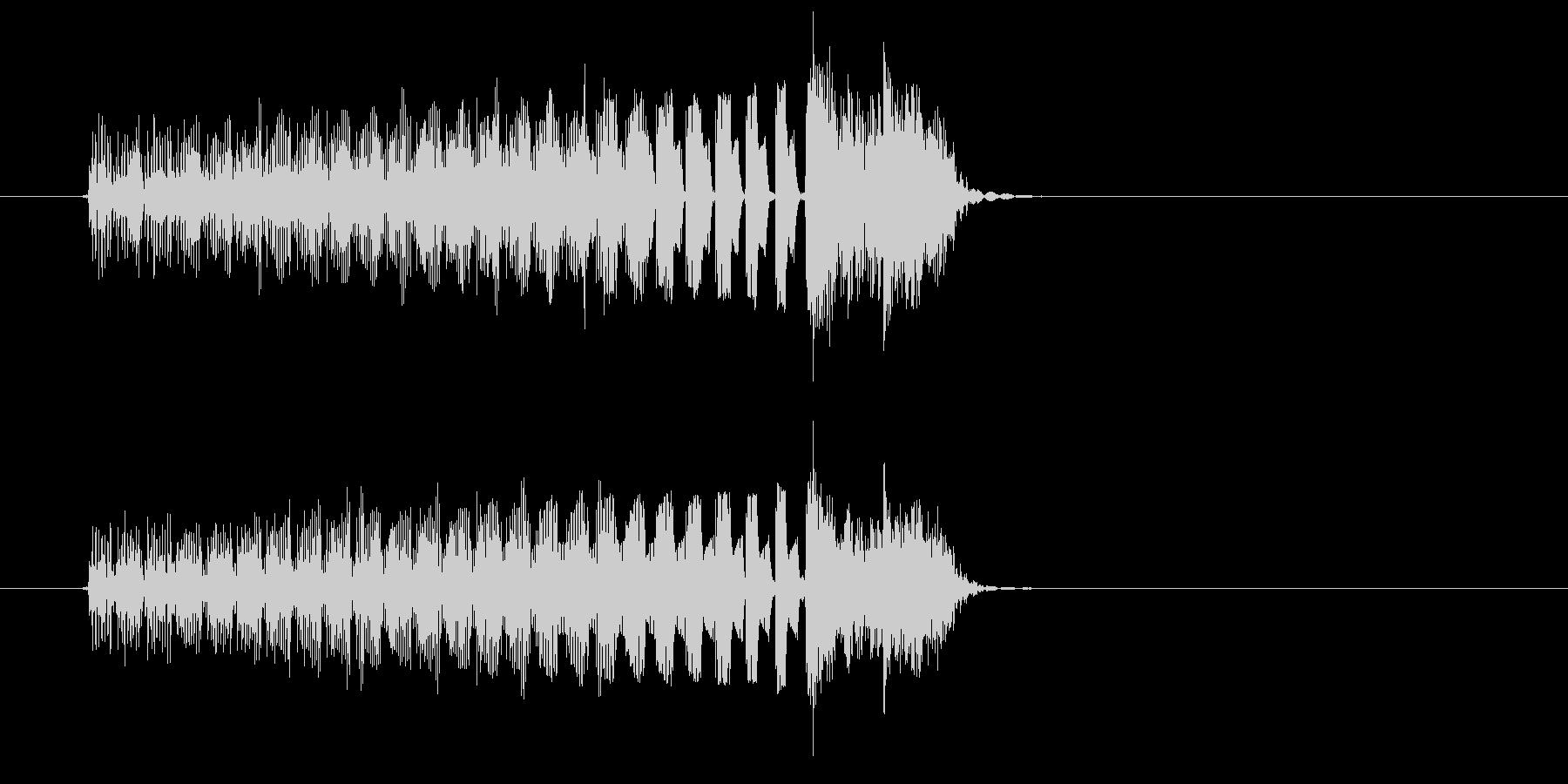 タラララと細かく刻まれたコンピューター音の未再生の波形