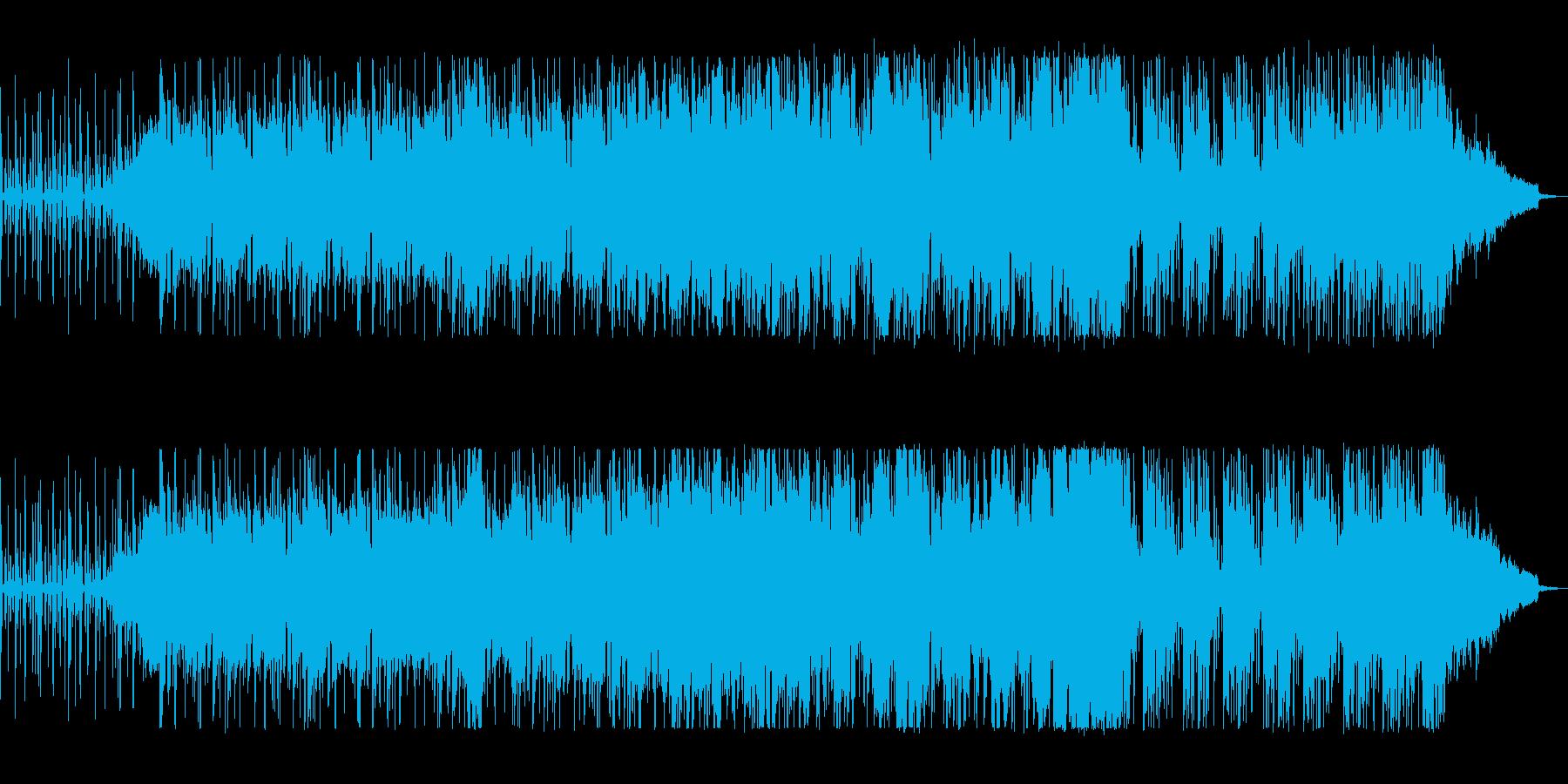 爽やかで透明感のあるテクノ風ジャズの再生済みの波形