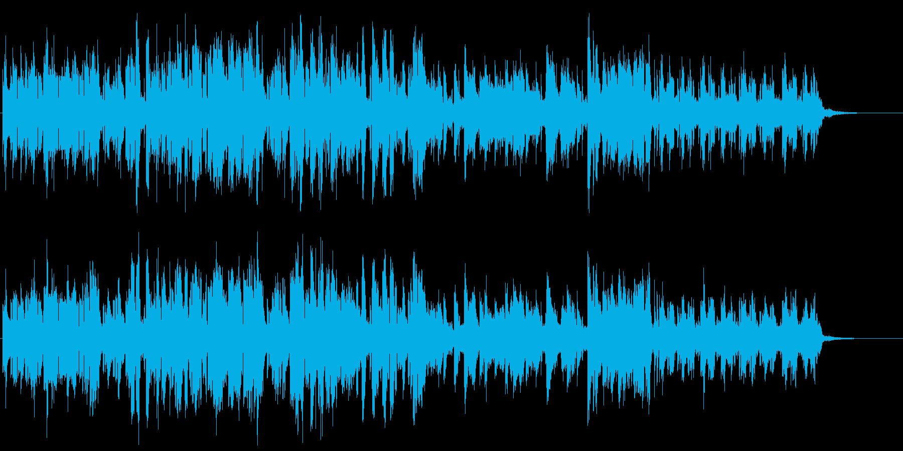 カッコよくエキセントリックなオープニングの再生済みの波形