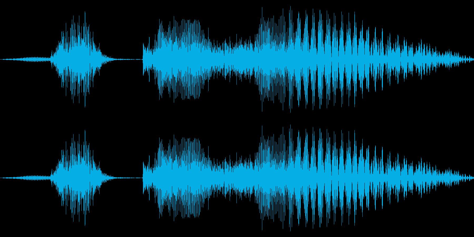 どっこいしょ!!(威勢よく)の再生済みの波形