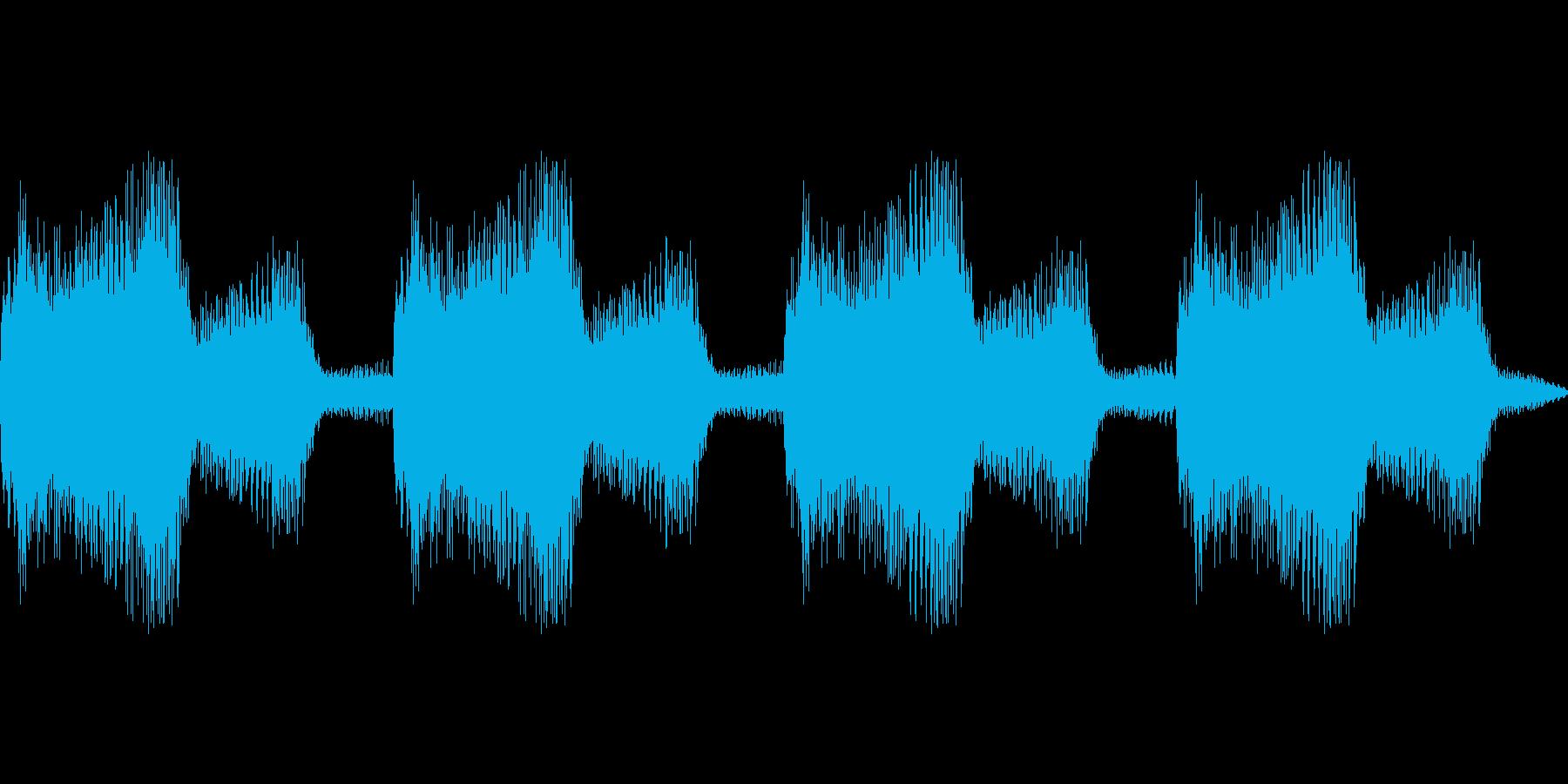 ボーンボーンン(SF風 警報 オルガン)の再生済みの波形