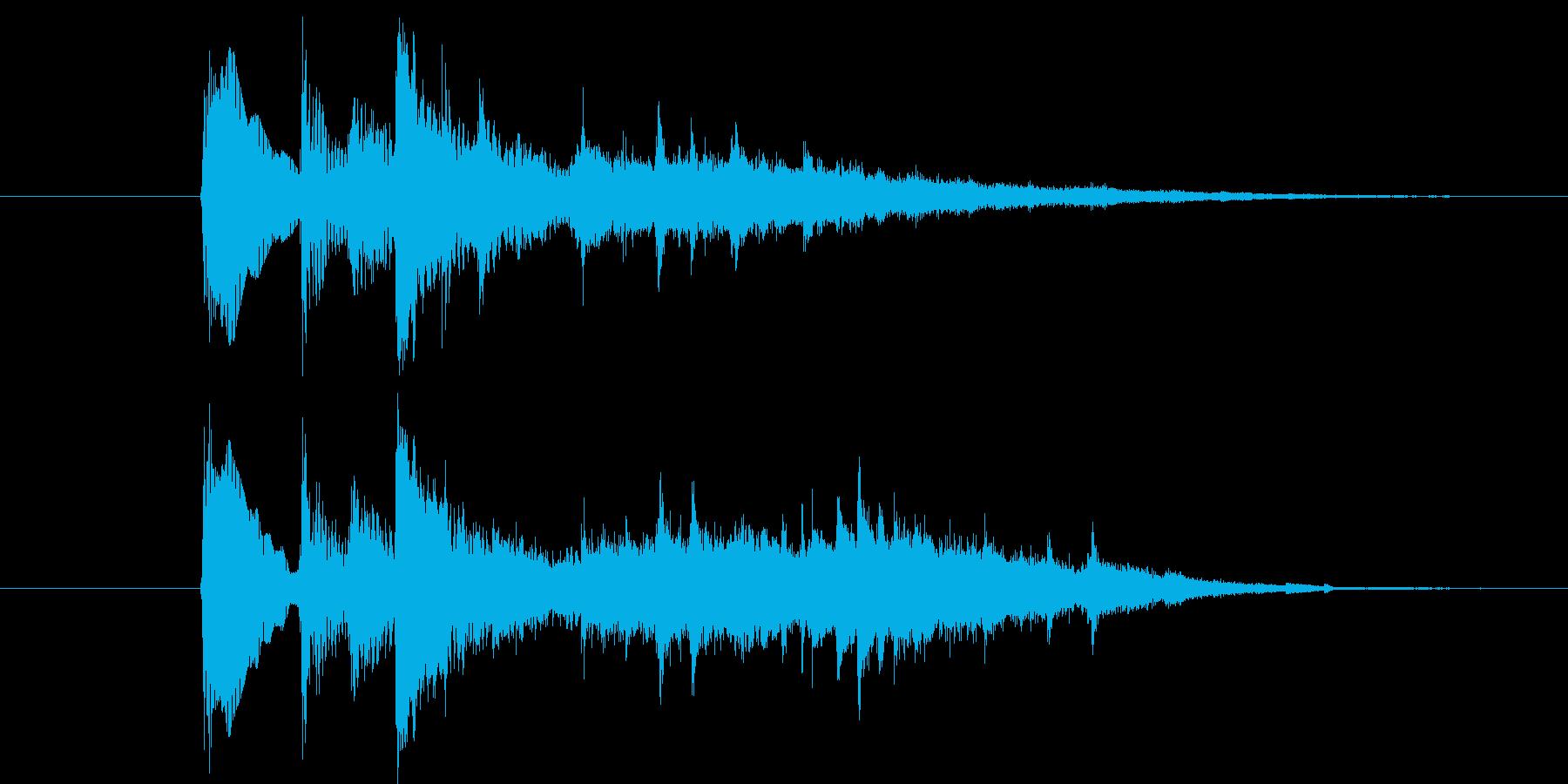 アプリ用和風サウンドエフェクトです。の再生済みの波形