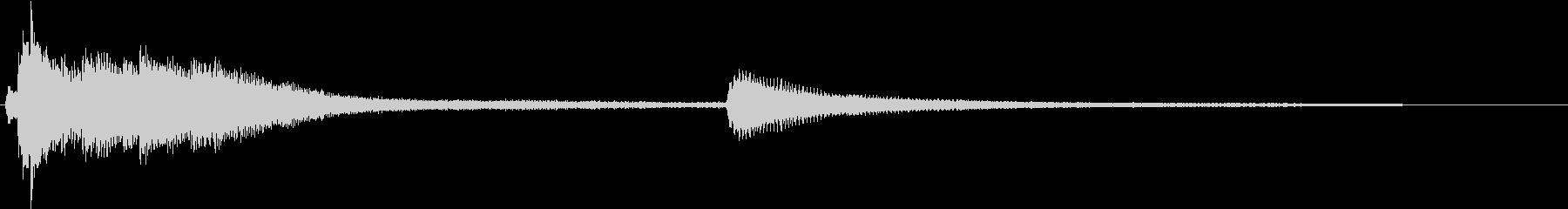 清潔ロゴピアノの未再生の波形