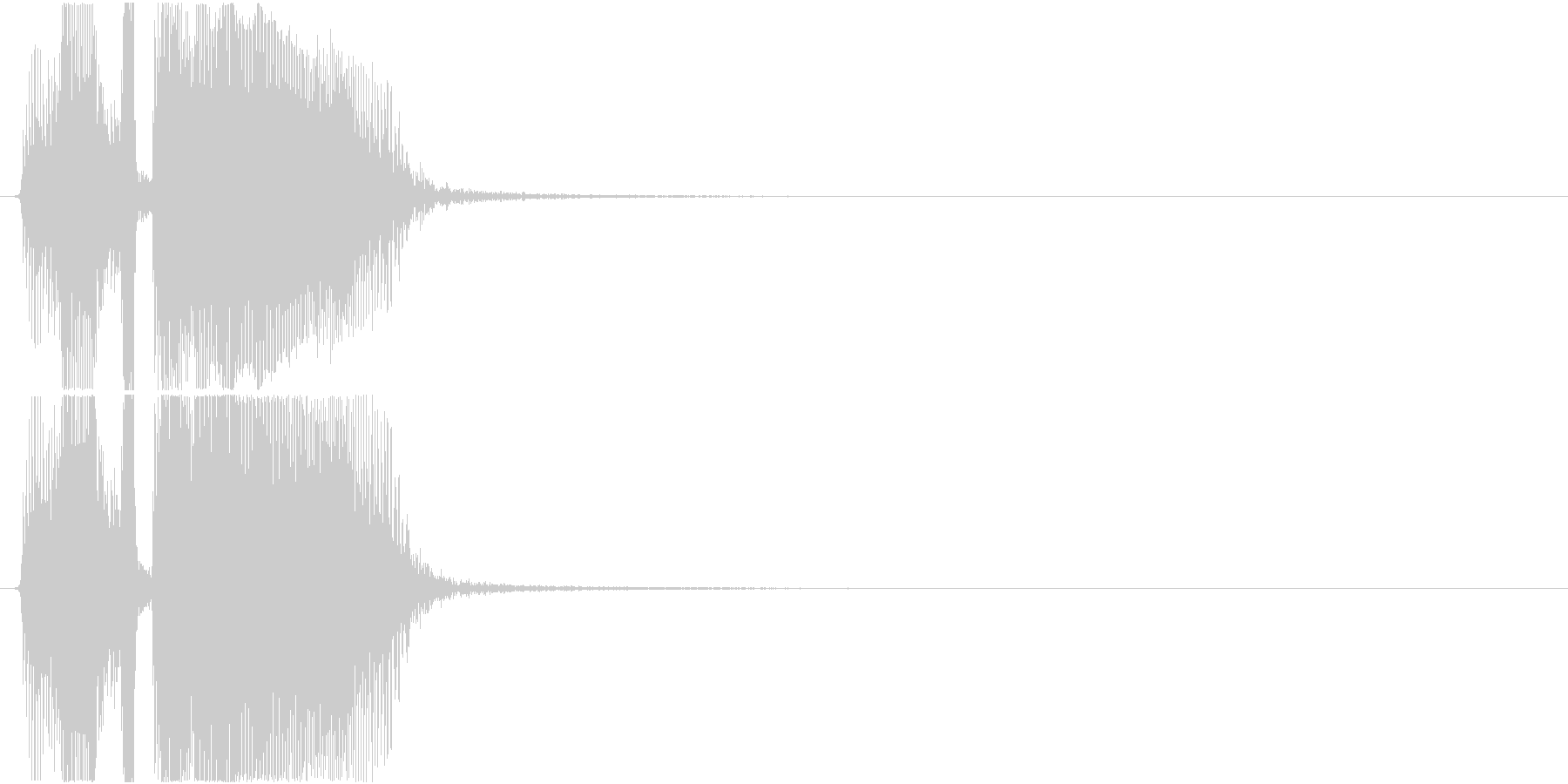 「レッツゴ―」アプリ・ゲーム用の未再生の波形