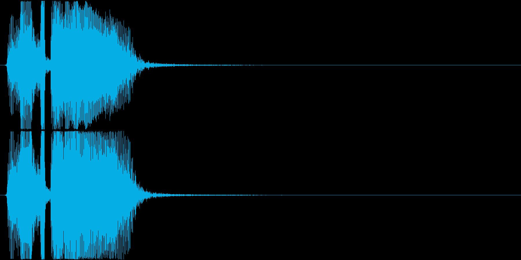 「レッツゴ―」アプリ・ゲーム用の再生済みの波形