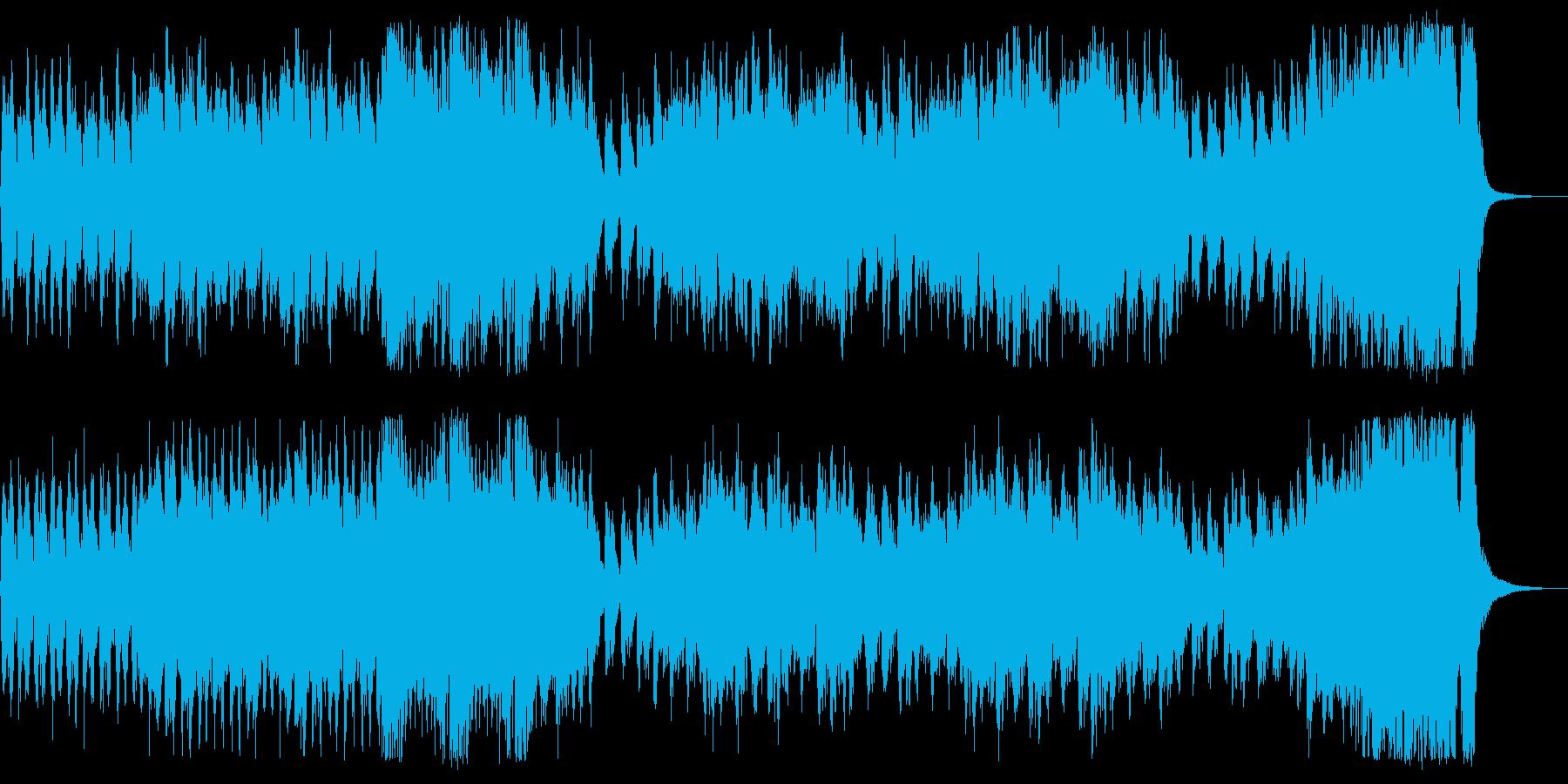 勇ましい行進曲の再生済みの波形