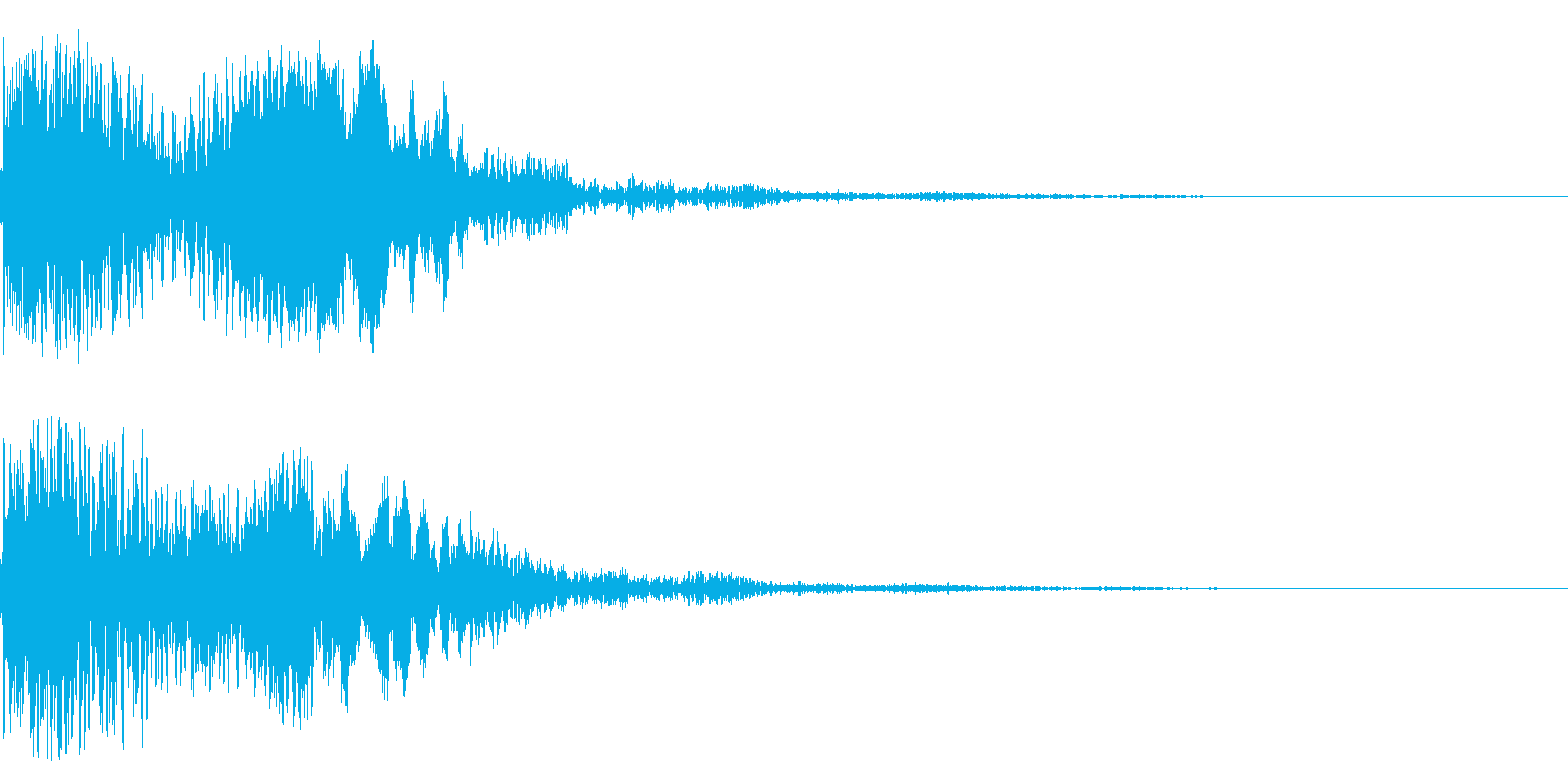 太鼓と尺八の和風インパクトジングル!11の再生済みの波形