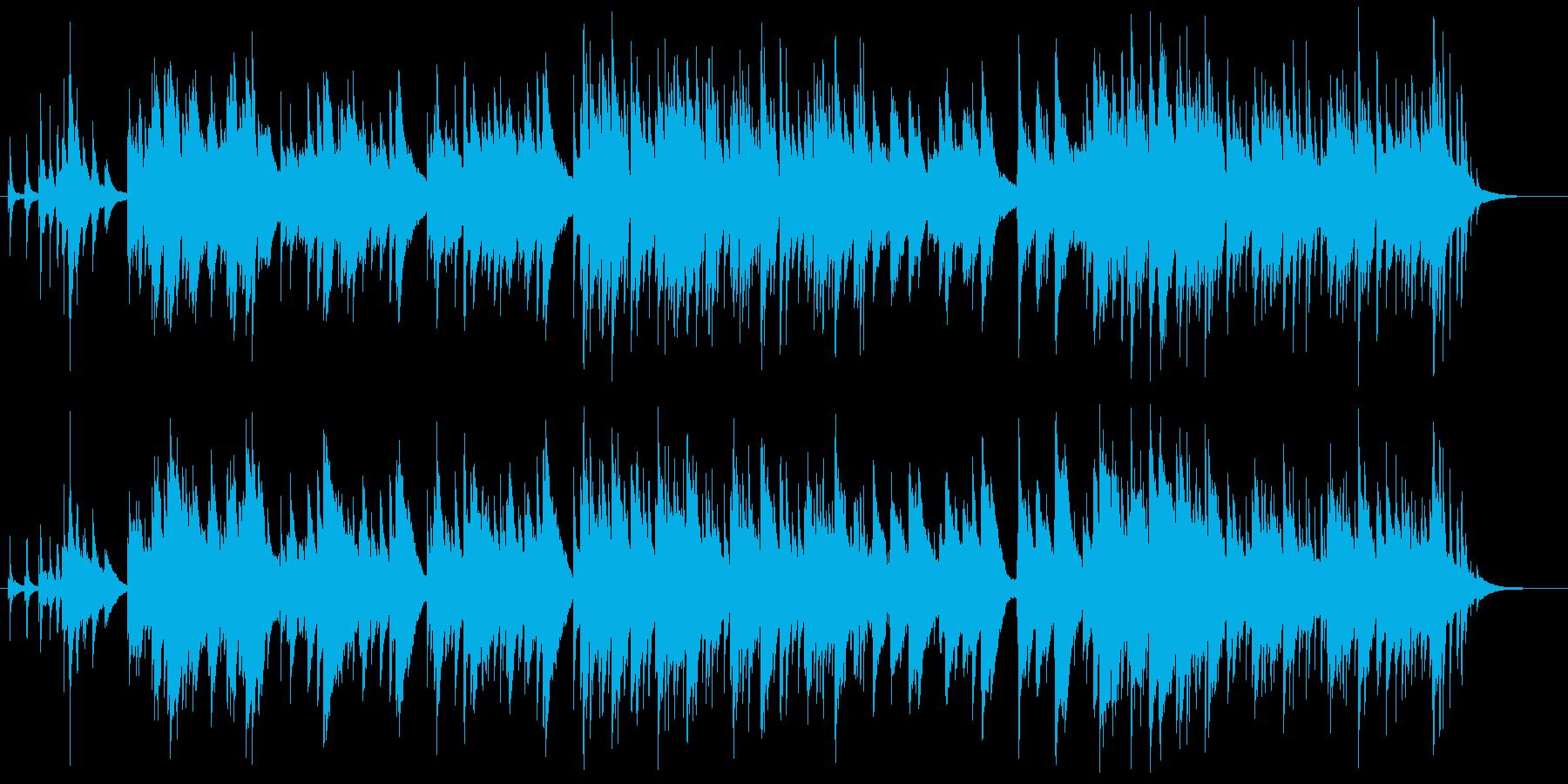 仔犬がかけまわるようなかわいらしい曲の再生済みの波形