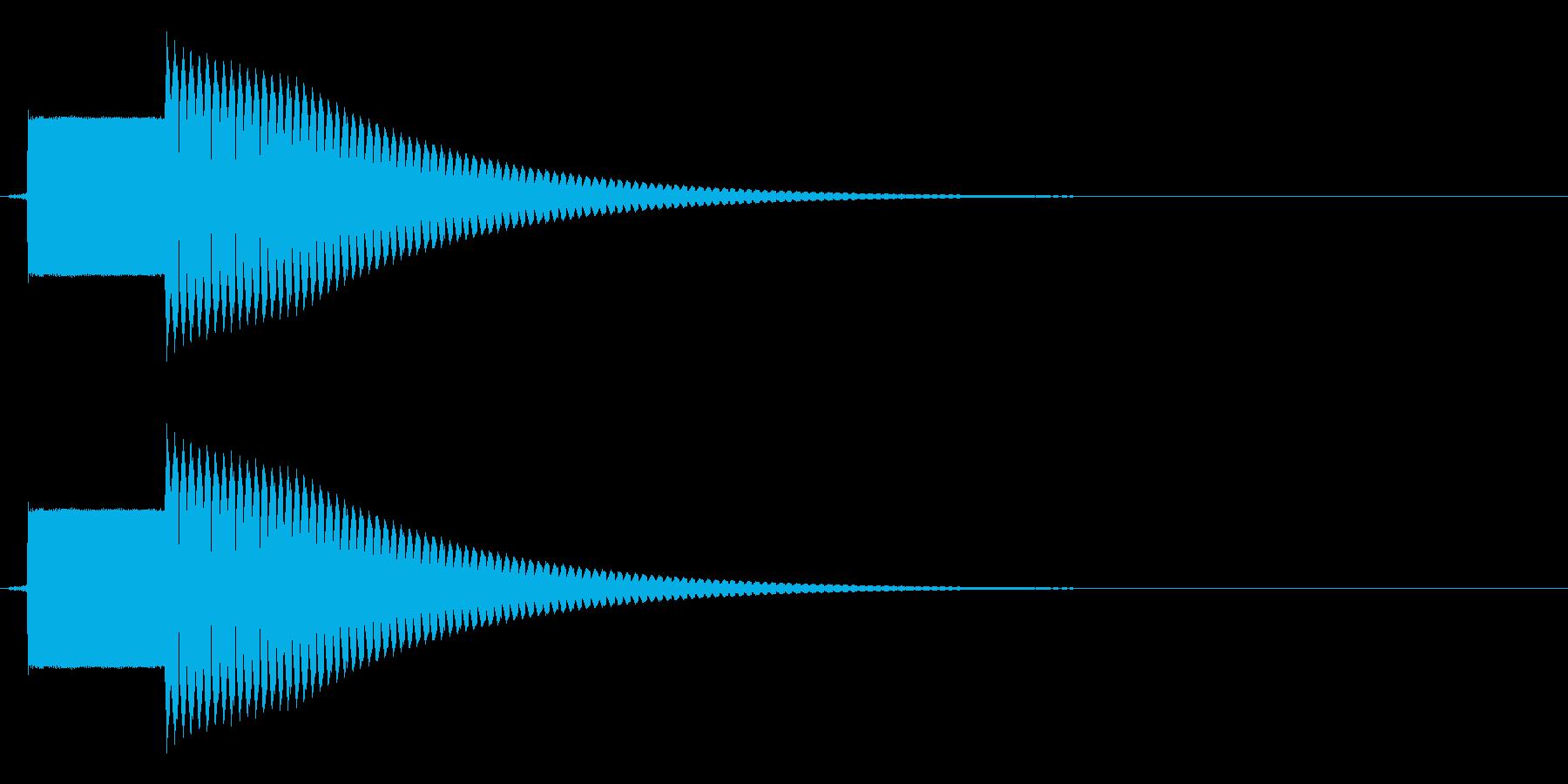 ピンポン(解答ボタンや正解の音に)の再生済みの波形