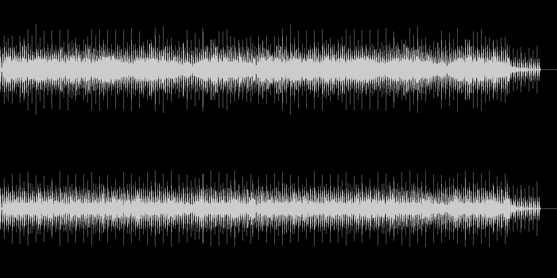 (1分)パズルゲーム4つ打ちテクノポップの未再生の波形
