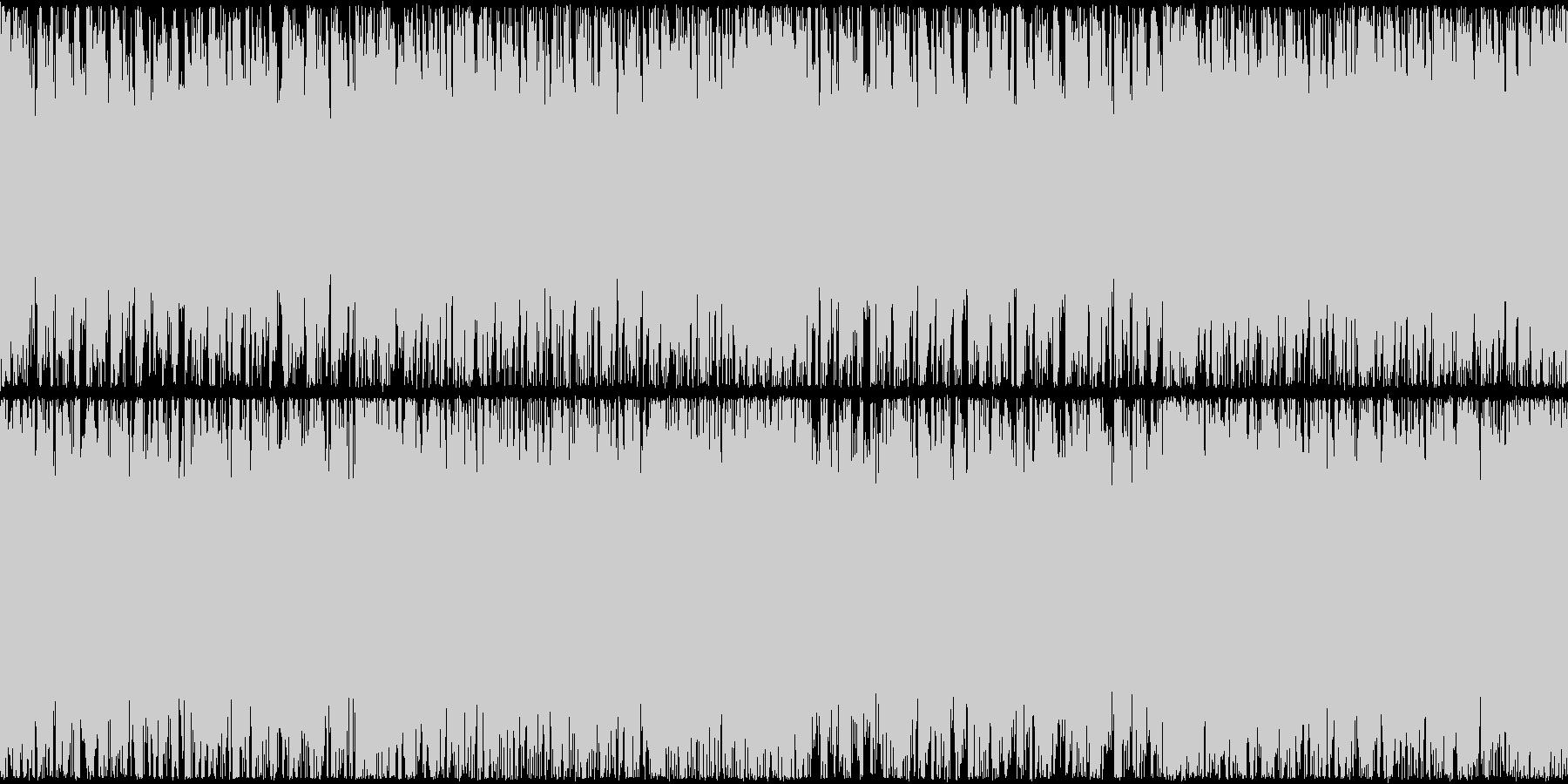戦闘シーンBGMの未再生の波形
