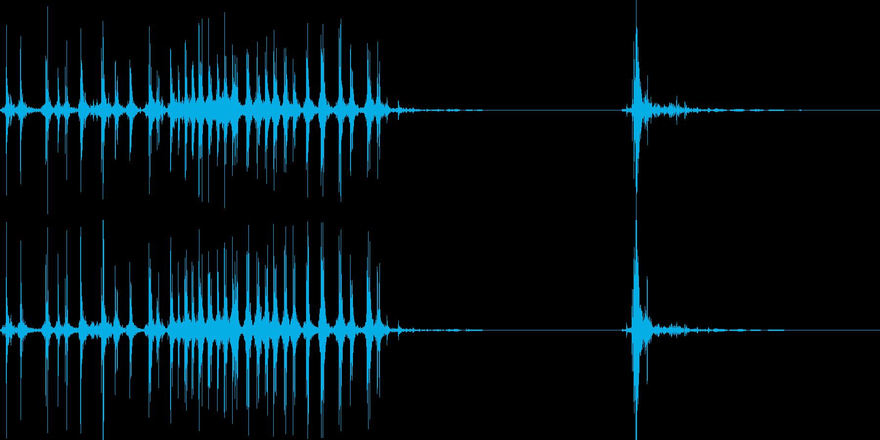 セロテープをちぎるの再生済みの波形