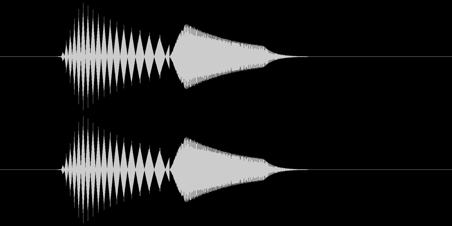 ボタンを押す ポチ の未再生の波形