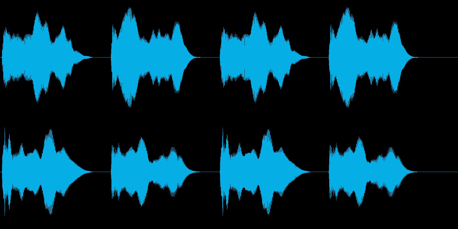 警報(立体的)の再生済みの波形