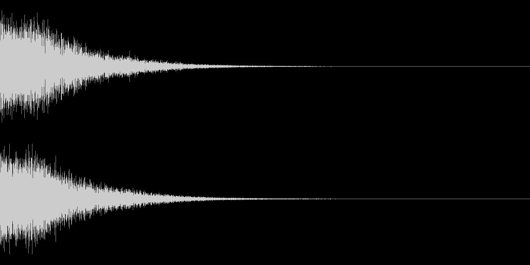 響き渡る銃声の未再生の波形