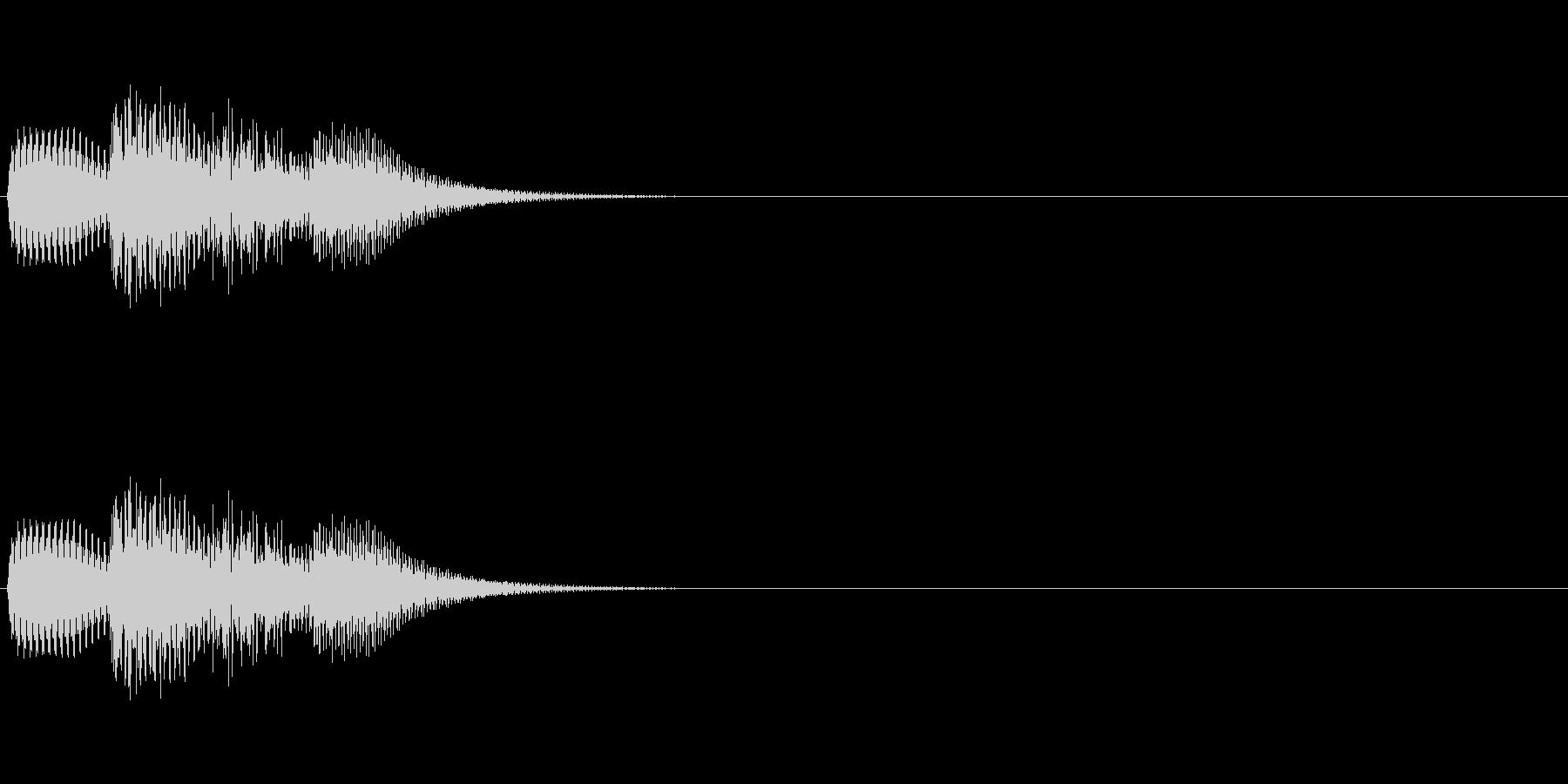 「トリリッ」 決定音 文字表示 の未再生の波形