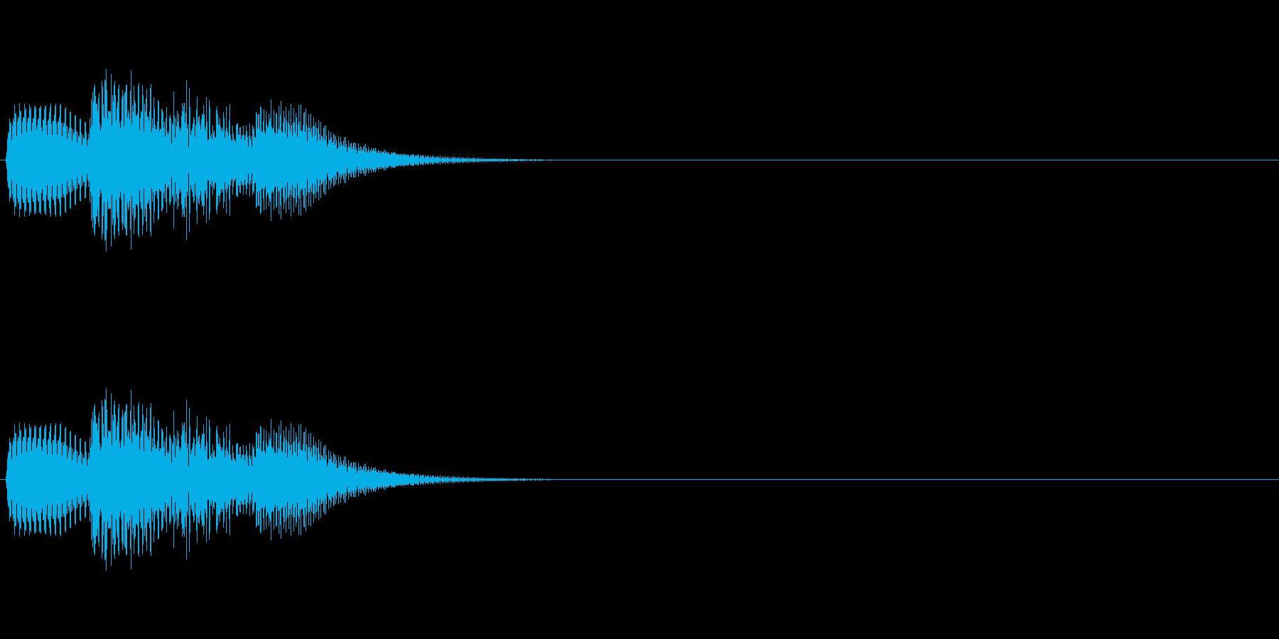 「トリリッ」 決定音 文字表示 の再生済みの波形