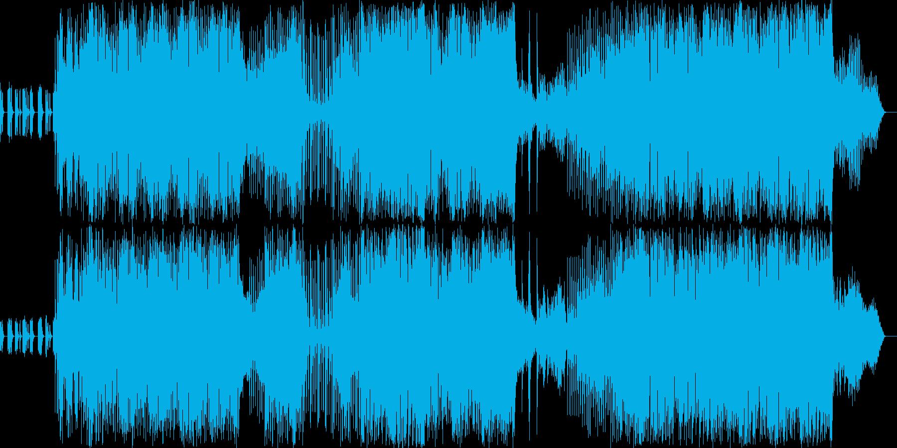 ゆったりとした癒し系4つ打ちテクノです…の再生済みの波形