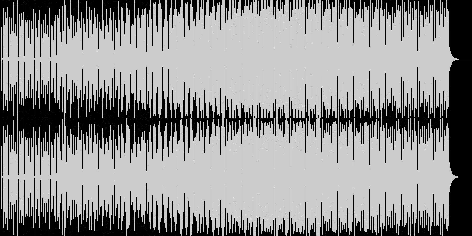 ワクワクするテクノの未再生の波形