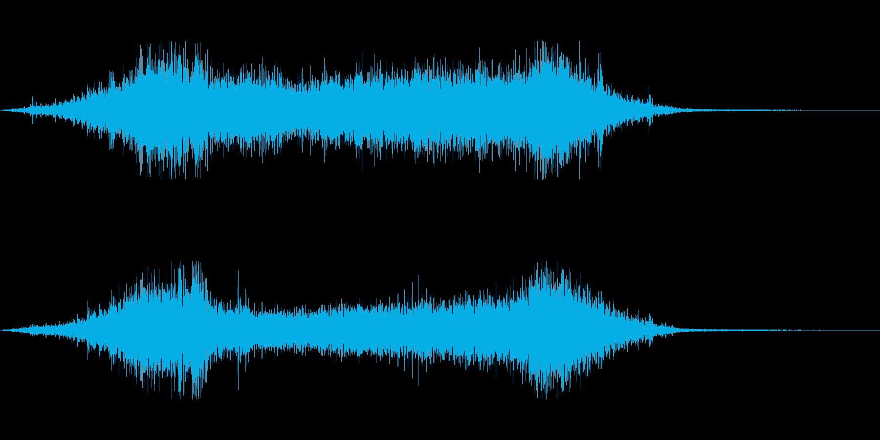 波打ち際の再生済みの波形