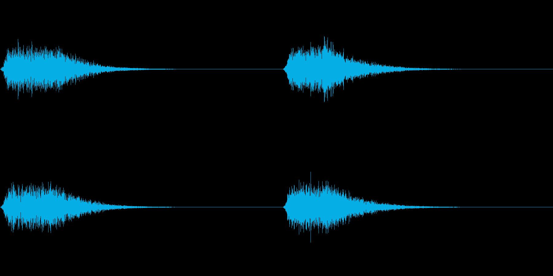 シュイーン:コックピットのドアの開閉音の再生済みの波形