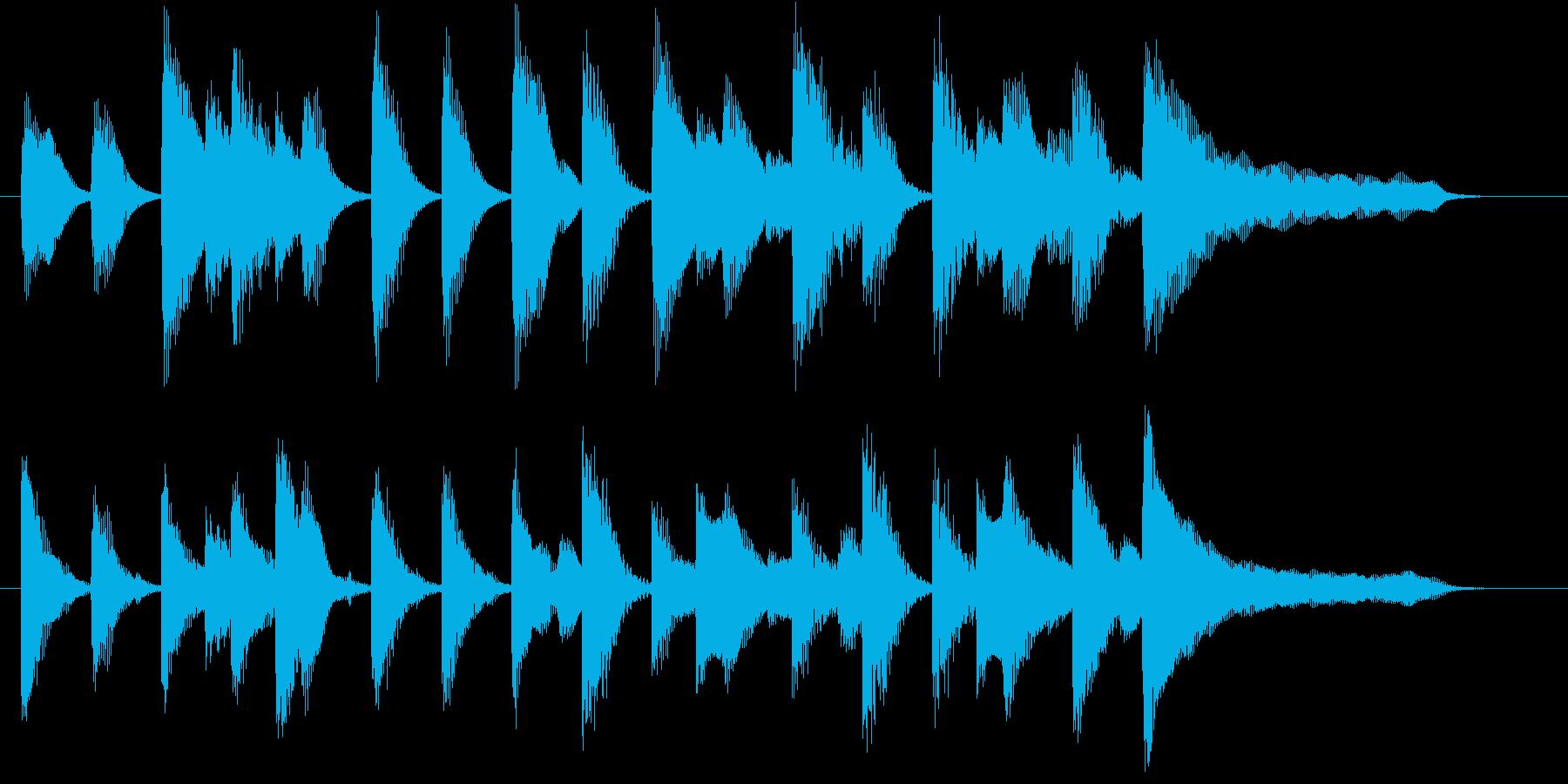 明るく穏やかな、ピアノのメロディ♪の再生済みの波形