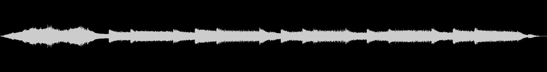 宇宙と交信するようなシンセの音響音楽の未再生の波形