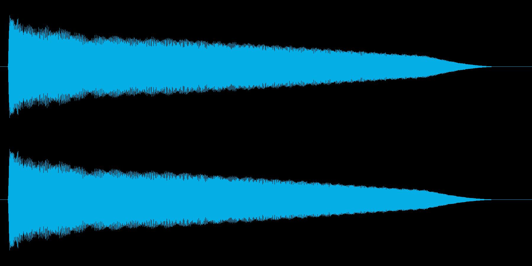 チューン(高音で響く音)の再生済みの波形