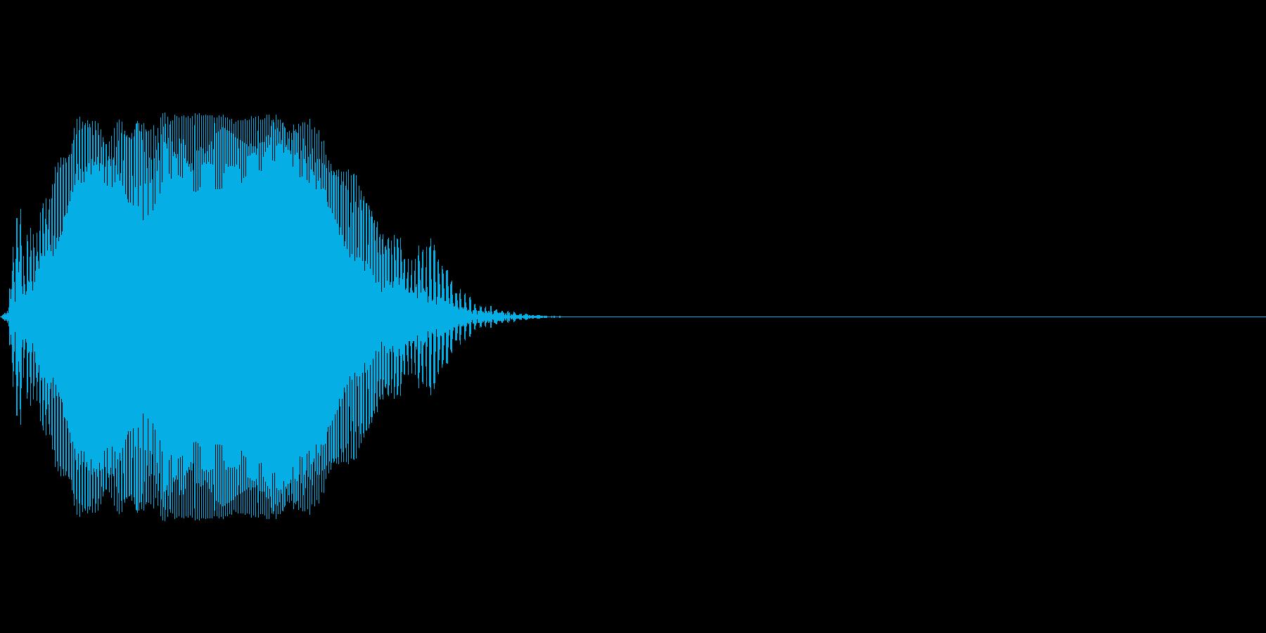 Oの再生済みの波形