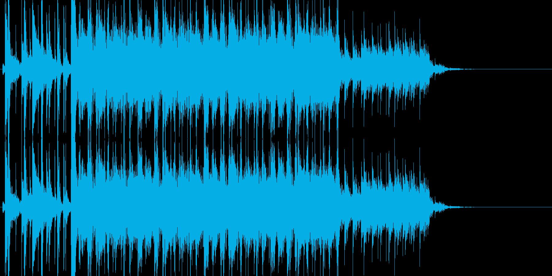 疾走感のあるチョッパーベースのエキゾチカの再生済みの波形